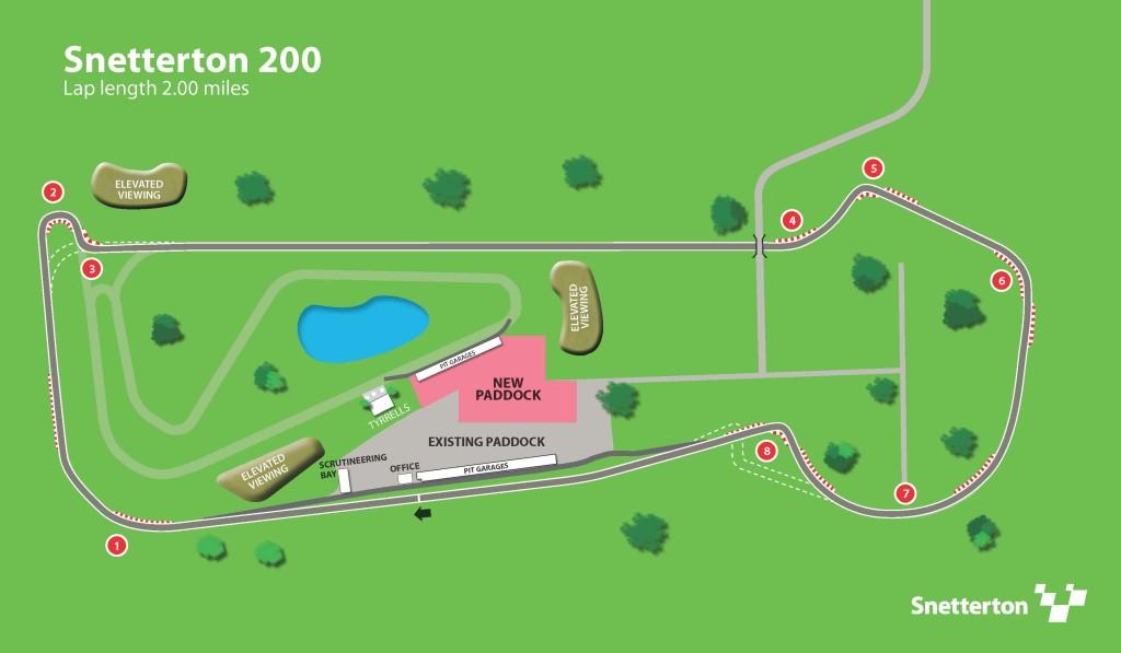 Snetterton 200 map